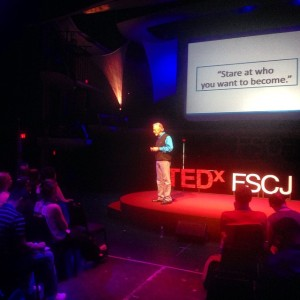 On stage at TEDxFSCJ (9/27/2014)