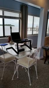 """My Cedar Key """"office"""" for four days."""